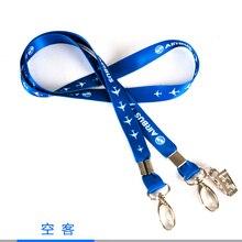 Airbus Талреп, Blue Ribbon Rope Sling Простой Дизайн для ID Дело Держатель для Пилот Авиации Lover Рядовой Летного Экипажа