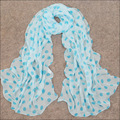 Women Winter Scarfs 2015 New Style Thin Dot Chiffon Silk Georgette Soft Handfeel Shawls Scarves For Women WJ-133