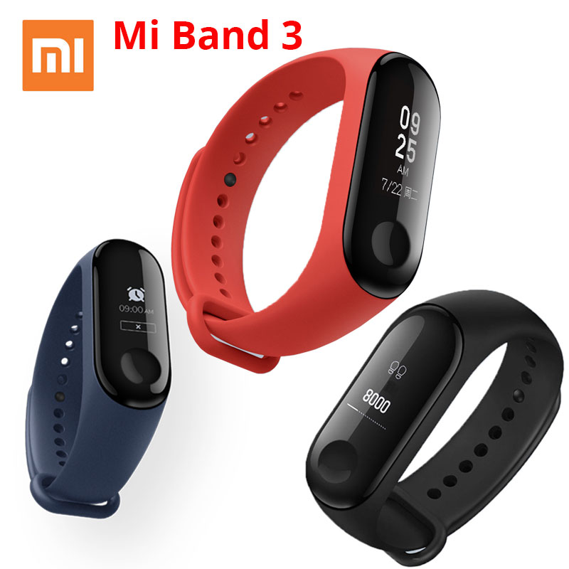 Xiaomi Mi Band 3 Smart Bracelet, Activity Bracelet Miband 3, 0.78 Inch OLED Touchpad, Heart Rate Monitor, Fast Shipping