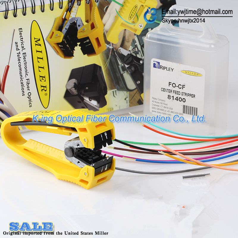 Original Miller clamp Center holes introduced formula length fiber optic stripper FO CF Miller stripper Free shipping