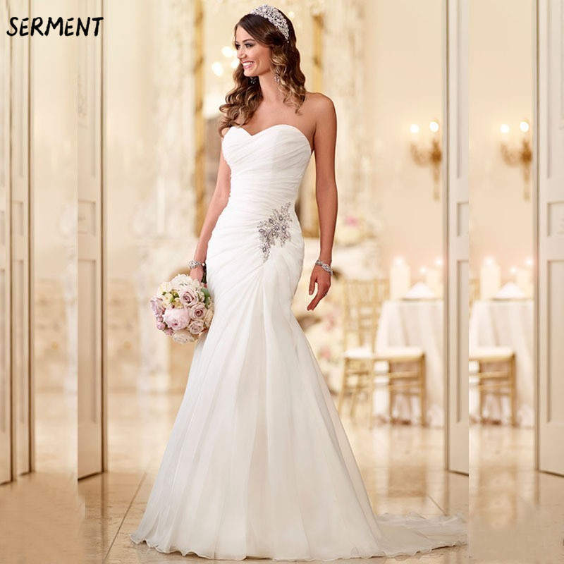 30 Discount 2019 New Wedding Lace Tail Long Sleeve Aristocratic Elegant Bride Print Explosion Wedding Dress mermaid in Wedding Dresses from Weddings Events