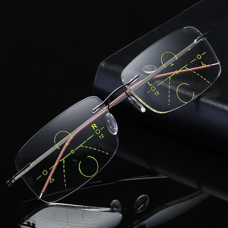 Kacamata Baca Multifokal Otomatis Zoom Tanpa Bingkai Ultralight - Aksesori pakaian - Foto 2