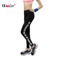 Women Yoga Pants Spring Autumn Running Pants Alphabet Legging Pant Simple Design Confortable QS
