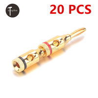 New Sale 20 PCS 4mm Connector Diamete Gold Plated Copper Amplifier Speaker Binding Post Banana Jack