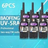 """רדיו ווקי טוקי (6 PCS) Baofeng UV5RA Ham שני הדרך רדיו טוקי ווקי Dual-Band מקמ""""ש (שחור) (2)"""