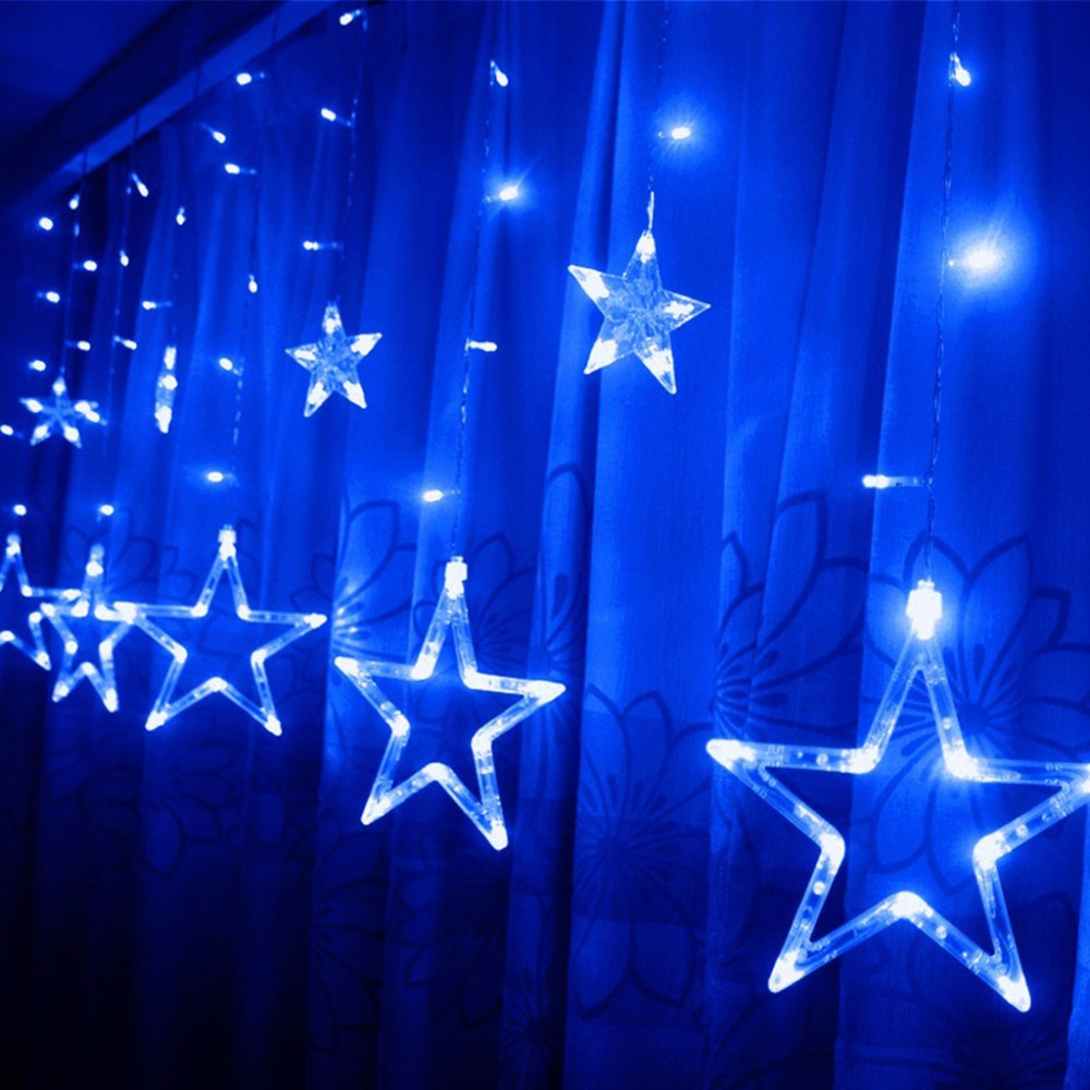 Excelvan 240V Curtain Star string lights christmas new year decoration  christmas led lights christmas decorations(
