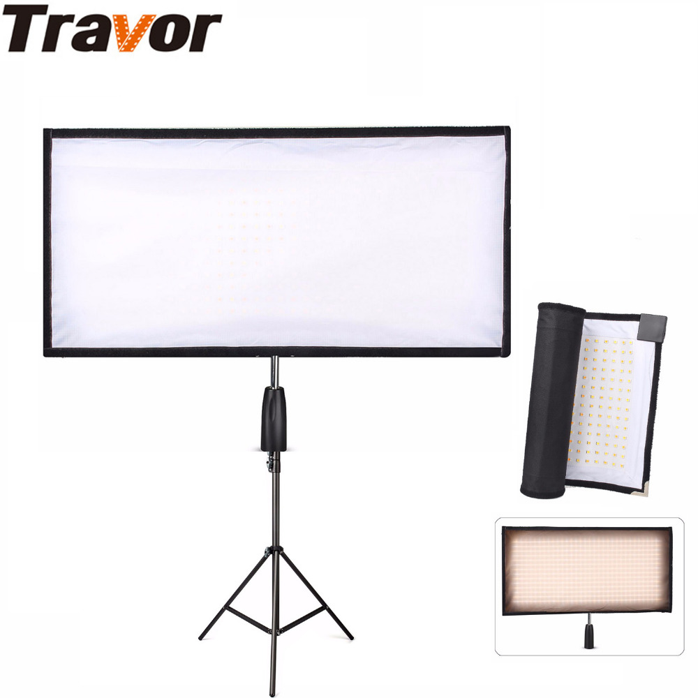 Travor Flexible LED Light Bi-Color Size 30*60CM Video Studio Photography Light With 2.4G Remote Control For Video Shooting new godox 308c bi color dimmable 5500k 3300k led video led video studio light lamp professional video light with remote control