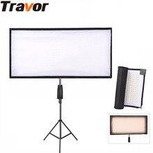Travor Elastyczne LED Światła Bi-kolor Rozmiar 30*60 CM Video Studio Fotografia Światło Z 2.4G Zdalnego sterowania Do Filmowania