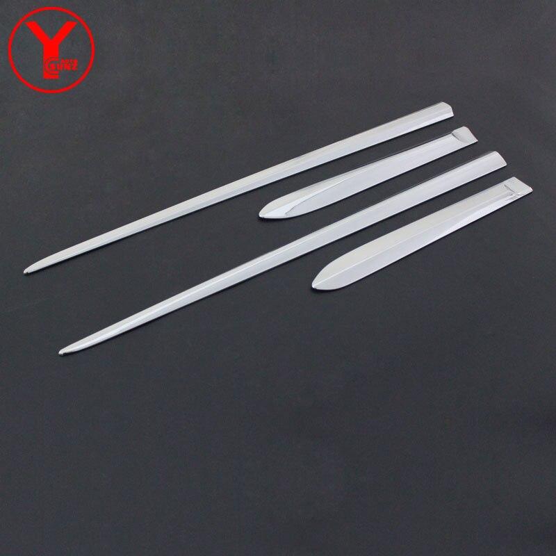 side door trim For Toyota Vios Sedan 2014 2015 2016 body cladding side door molding trim exterior accessories deflectors YCSUNZ