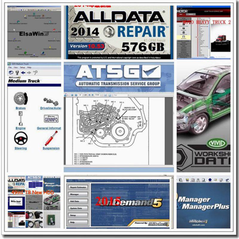 2016 Top Auto Repair Software Alldata 10.53 Alldata Mitchell on demand 2015 latest version ect 49in1 1tb usb hdd fit for wins7/8 pochette étanche pour téléphone