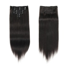 Clip In Human Hair Extensions 100G 14″-24″ Full Head Set  Remy Hair straight  Double Drawn 100% Real Human Hair 7pcs