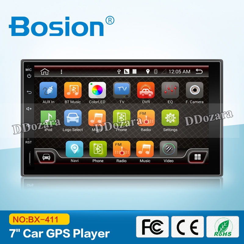 Quad core 2 din android 7.1 2din New universal Car Radio Double Car DVD Player GPS Navigation In dash Car PC Stereo video цена