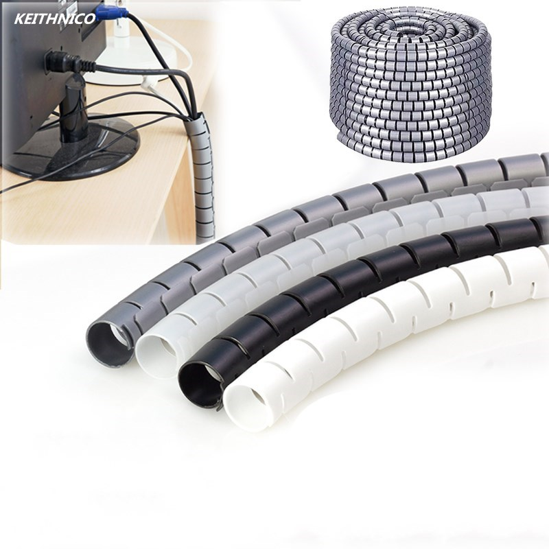 Flexible Spiral Tube Cable Winder Cable Organizer Wire Wrap Cord ...