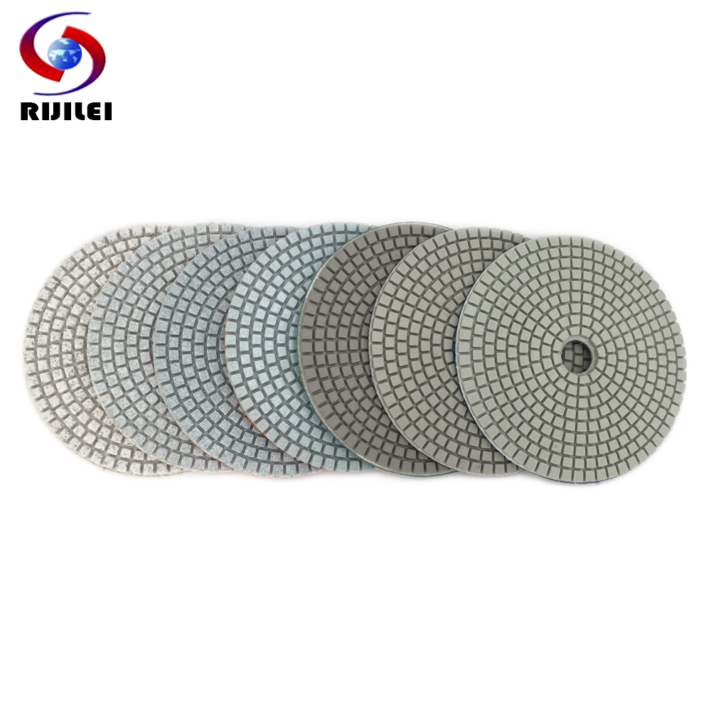 11pcs 4inch Wet//Dry Diamond Polishing Pad Granite Marble Concrete Stone Kit 2