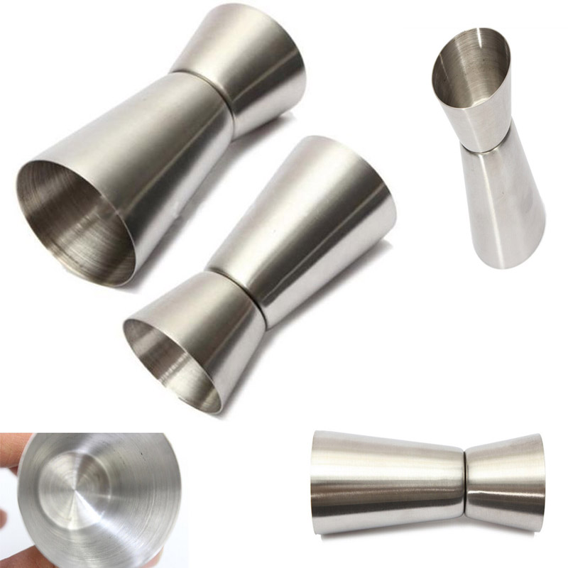 High Quality Stainless Steel Cocktail Shaker Jigger 15/30ml Bar Measuring Cup Single Double Shot Short Drink Bar Measures Tools