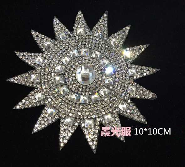 2pc/lo Sunflower iron on transfers motif designs iron on transfer rhinestones fix with glue hox fix rhinestone