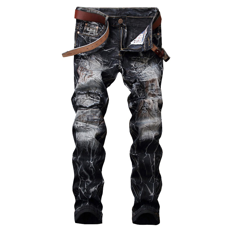 Laamei 2018 New Fashion Men Jeans Biker Jeans Hiphop Punk Straight Pantalon High Quality Slim Fit Denim Pants Trousers Jeans