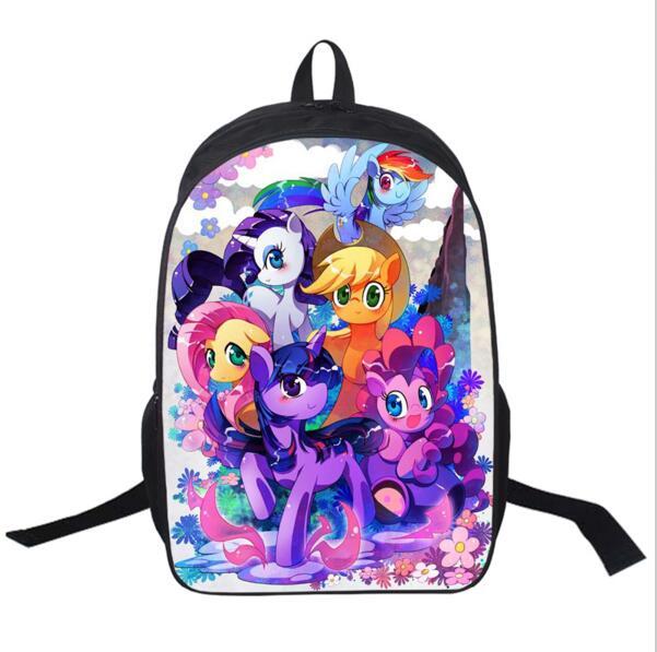 My Pony Backpack For Teenagers Girls School Bags Young Women Daily Backpack  Children Backpacks Kids Bag Mochila Escolar be53b6b993