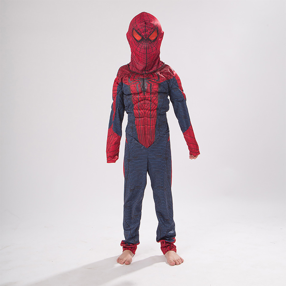 Spiderman muscle clothes cosplay children costume spider man suit costume in Boys Costumes from Novelty Special Use