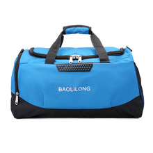 купить Professional Waterproof Large Sports Gym Bag With Shoes Pocket Men Outdoor Fitness Training Duffle Bag Women Travel Yoga Handbag онлайн