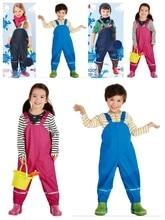 Childrens clothing female child denim bib pants t-shirt overalls twinsetForeign brand-name childrens suits