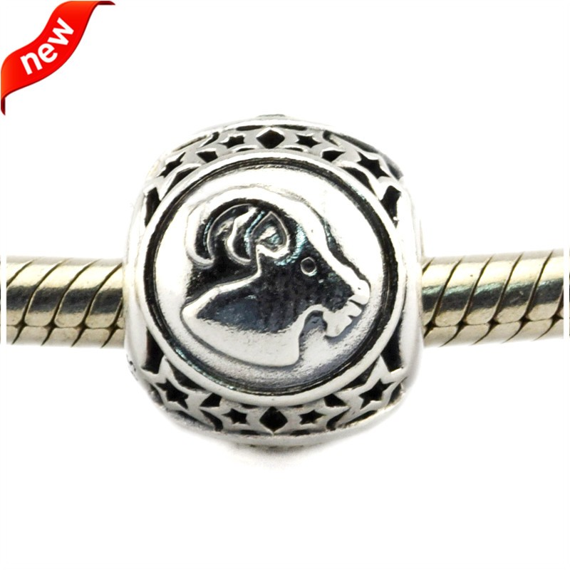 925 Silver Jewelry Beads DIY Fits Pandora Bracelet Charms Capricorn Star Sign Silver Charm Beads for Jewelry Making Women Gift