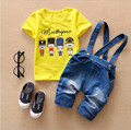 New arrive 1-5 years Children blue cowboy overalls Baby Cartoon Shoulder strap two-button denim overalls boys fashion pants