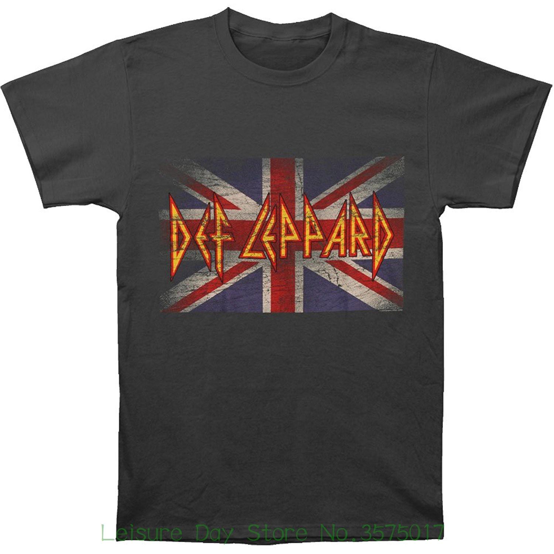 Men T Shirt Print Cotton Short Sleeve T-shirt Def Leppard - Vintage Jack Overdye T-shirt Size L