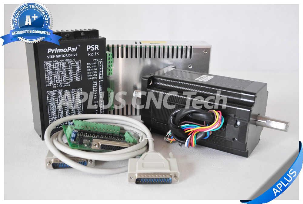 1-axe NEMA 34 double arbre moteur pas à pas 1696oz-in & Driver PSR8078 & 48 V Kit d'alimentation