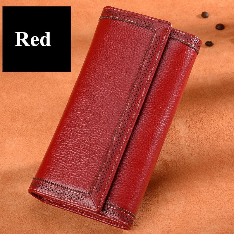 ICEV кошелек из натуральной кожи женский кошелек с выемкой высокое качество воловья кожа держатель для карт карман для сотового телефона женский дневной клатч - 4