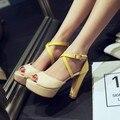 2016 Специальное Предложение Tenis Feminino Плюс Размер Женская Обувь Высокой Пятки Женщин Насосы Sapato Feminino Лето Стиль Chaussure Femme M18