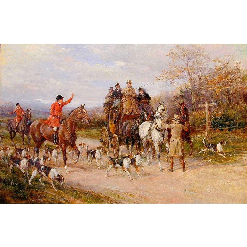 US $141 18 OFF Hewan Seni Minyak Lukisan Pemandangan Heywood Hardy Yang Sempit Miss Di Persimpangan Kuda Lukisan Tangan Dicat Painting &