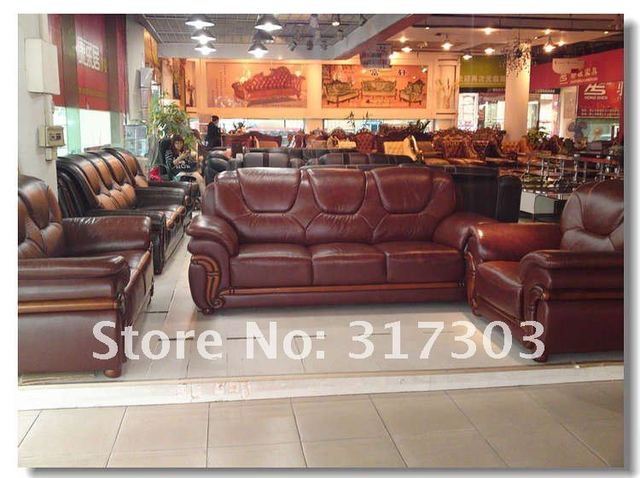 Classical Leather Sofa Set  4