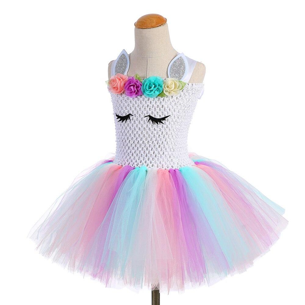 Image 4 - Xmas Princess Little Girls Dress Pony Knee Length Lol Surprise Dress Teen Unicorn Tutu Dress with Unicorn Headband Angel WingsDresses   -