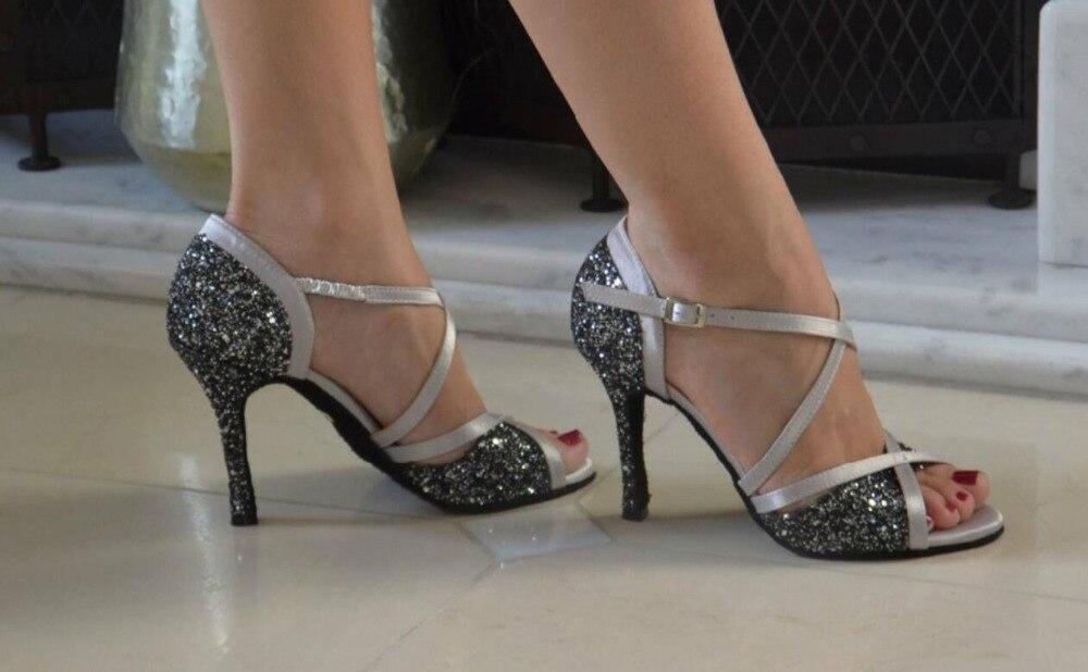 Chaussures de danse SALSA paillettes latines chaussures de danse latine chaussures de danse de mariage de salle de bal chaussures de danse de fête Salsa