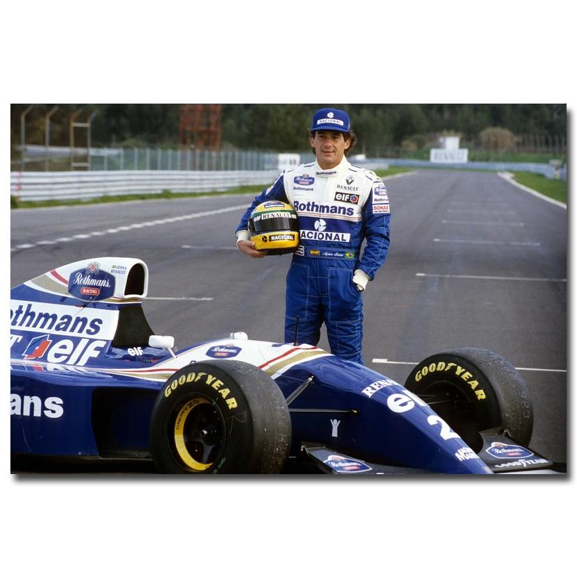 Ayrton Senna da Silva F1 Racer Art Silk Poster Print 13x20 24x36 inches Sports Pictures For Living Room Decor 016