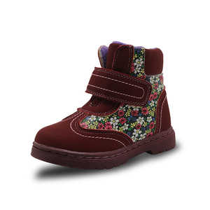 Image 3 - Apakowa Winter Autumn Girls Boots Floral Childrens Shoes Warm Short Plush Comfy Kids Pu Leather Martin Boots for Toddler Girls
