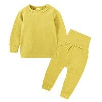 Children Sleepwear pure color cotton Children's pajamas Children's Suit Spring Autumn Clothes Boys Clothes Pajama Sets