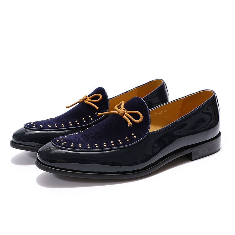 De Mocassins Da Black Confortável blue Felix Vestido Homens Calçados Veludo Dos Formal Sapatas red Designer Casamento Chu Festa Marca Casuais Patente Sapatos xZHfz