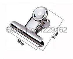 Free Shipping (48pcs/lot) 39mm Round Metal Grip Clips Bulldog Clip Paper Clip Office Supplies& Stationery Stainless Steel