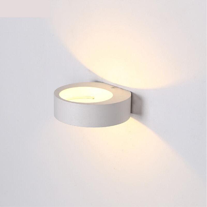 Unique Minimalisme mur lampe moderne En Aluminium mur sune seule allée salon salle d'étude salle de bains LED lampe bureau intérieur simple lumière