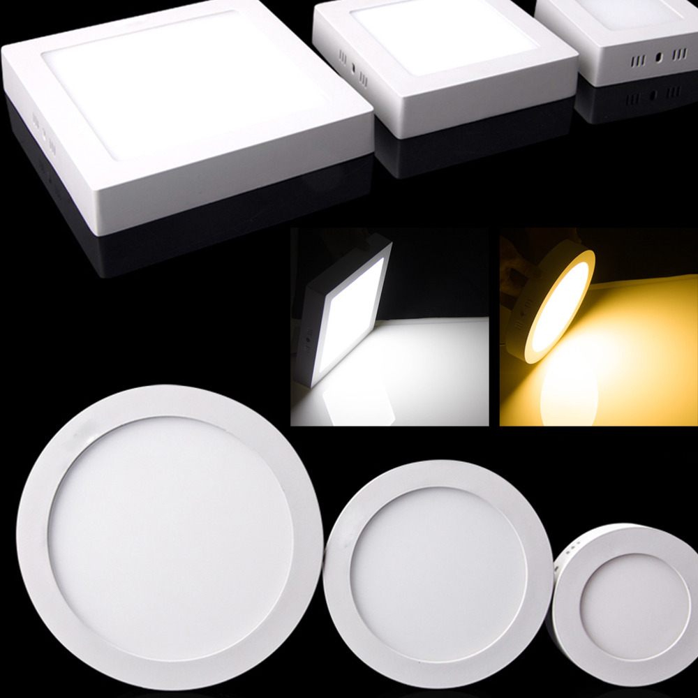 Indoor decorative led ceiling lights wall lamps china led ceiling - Dimmable 9w 15w 21w Square Round Surface Mounted Led Ceiling Panel Light Foyer Kitchen Indoor Lighting
