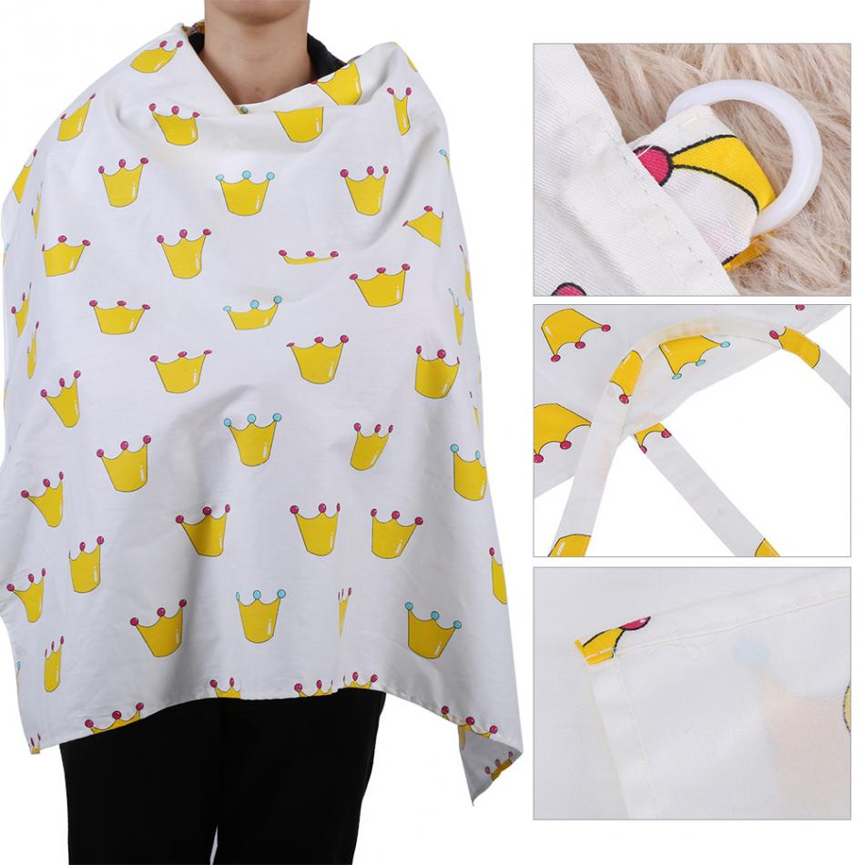 Breastfeeding Cover Baby Infant Breathable Cotton Soft Print Fashion Nursing Cover Mommys Outdoors Feeding Baby Nursing Cover
