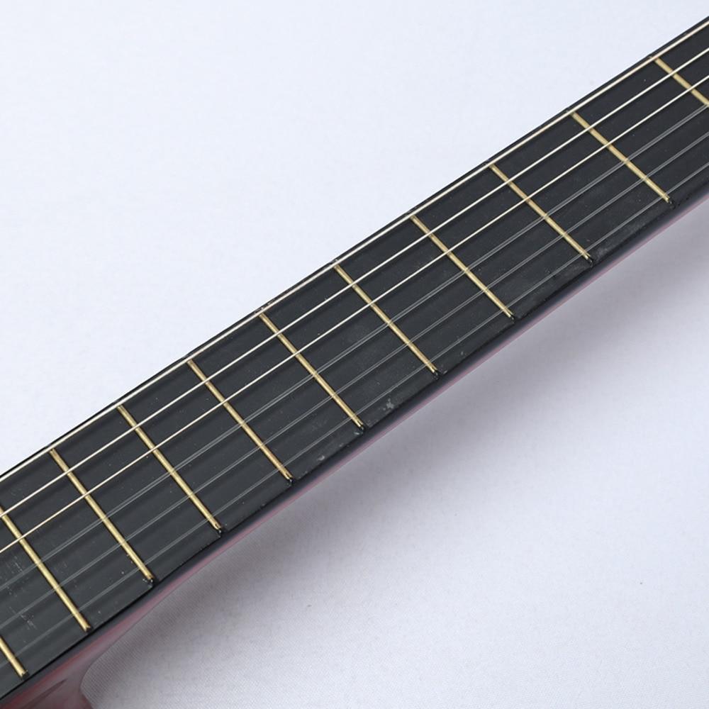 38 Inch klasická dřevěná kytara Začátečník Praxe Hudební - Školní a vzdělávací materiály - Fotografie 4