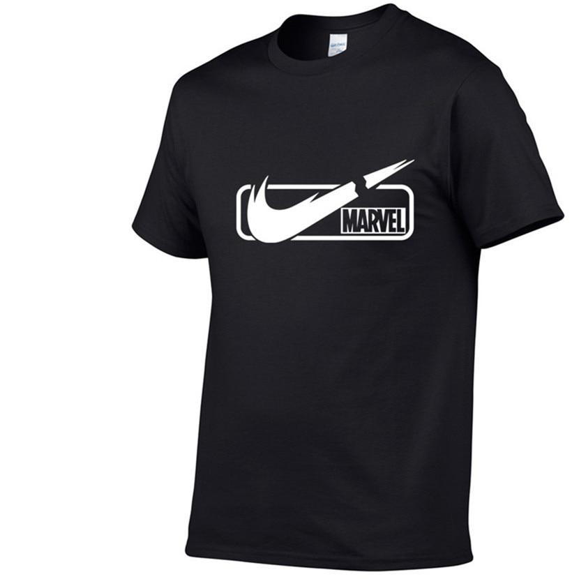 2019 Summer New Fashion Brand Clothing Tshirt Men MARVEL Print Short Sleeve   T     Shirt   Men Top Quality Casual   T  -  Shirts   XS-XXL