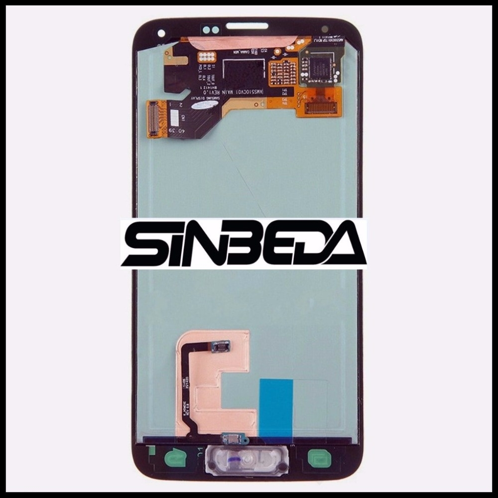 Sinbeda Super Amoled LCD Display Touch Screen Digitizer Assembly Replacement For Samsung Galaxy S5 i9600 G900F G900M G9001 G900I