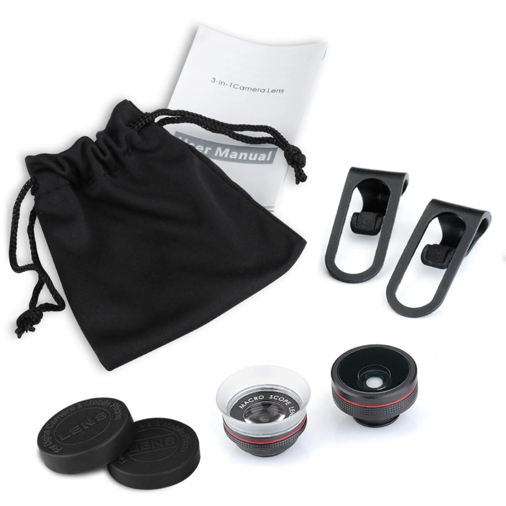 VICTSING Clip-on 3 in 1 Camera Phone Lens Kit Fisheye Lens + 12X Macro + 24X Super Macro Lens for iPhone 6s 6 Plus etc Cellphone 17