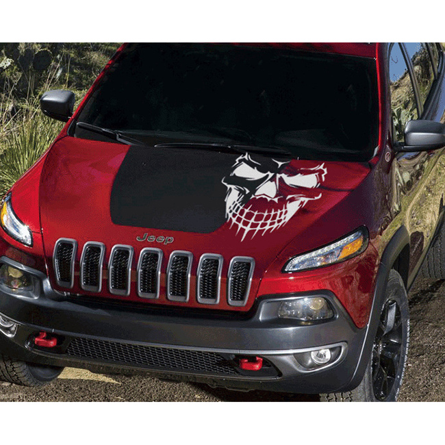 Vehemo Skull Hood Decal Vinyl Large Graphic Punk Sticker Car Truck - Custom windo decals for jeepsjeep hood decals and stickers custom and replica jeep decals now