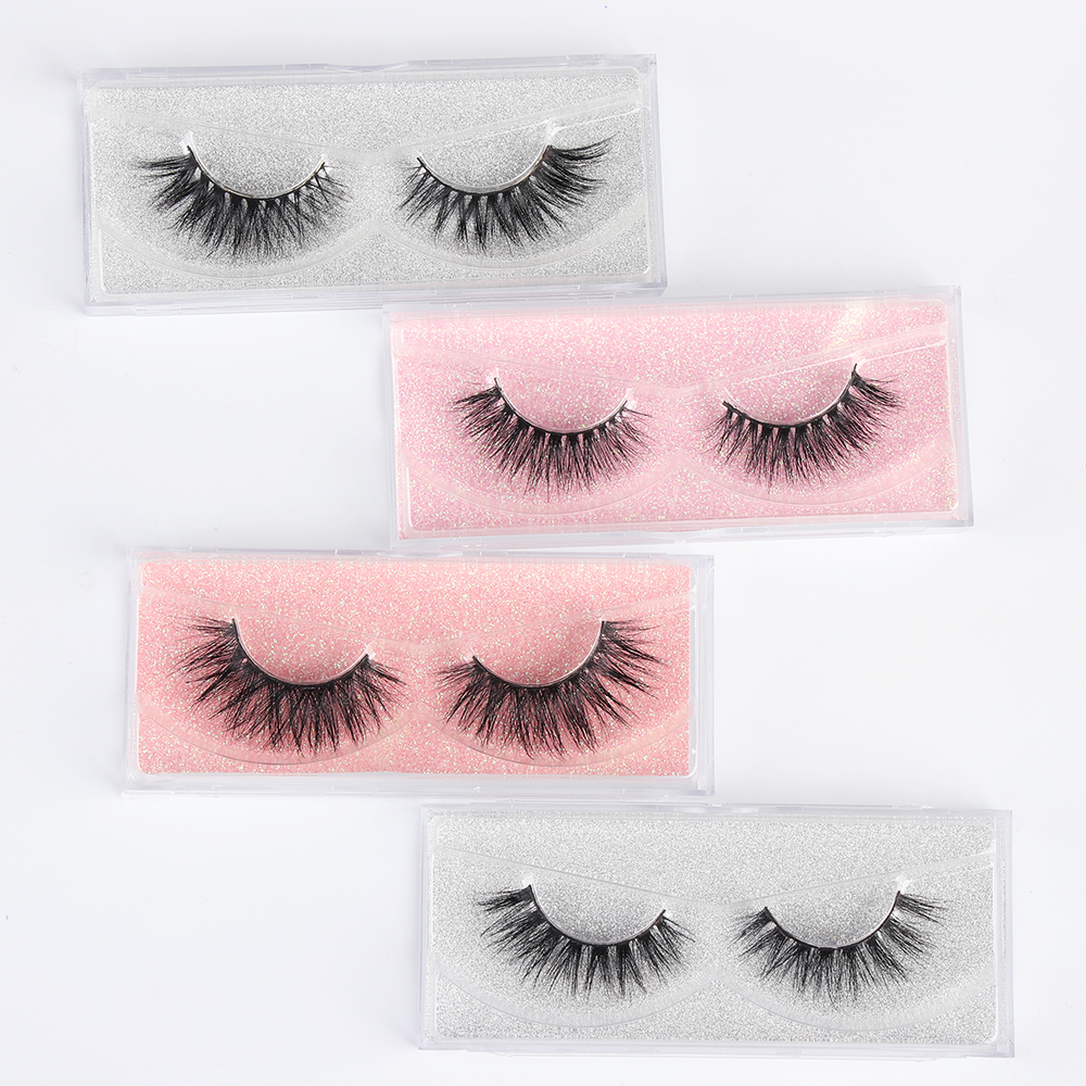 fb762c46ee9 100% Real Mink Hair 3D Cross Long False Eyelashes Extension Wispy Fluffy  Lashes Multilayer Full Strip Eye Lashes Makeup Tools
