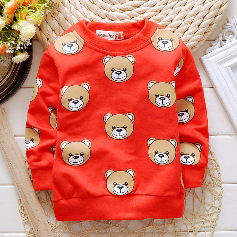 2016 Spring Autumn Boys Girls T-shirts for 1-3Y Baby Children's Clothing Cotton Casual unisex kids Tops Tee Clothes 80-95CM